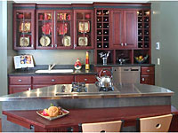 Cherry Wood Kitchen made by Crystal Cabinetry